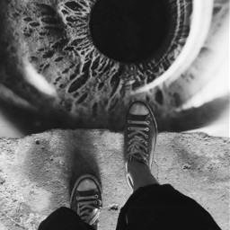 blackandwhite walking feet ontheedge eye