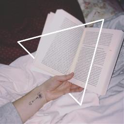 triangle booklover bookreading minimalism freetoedit