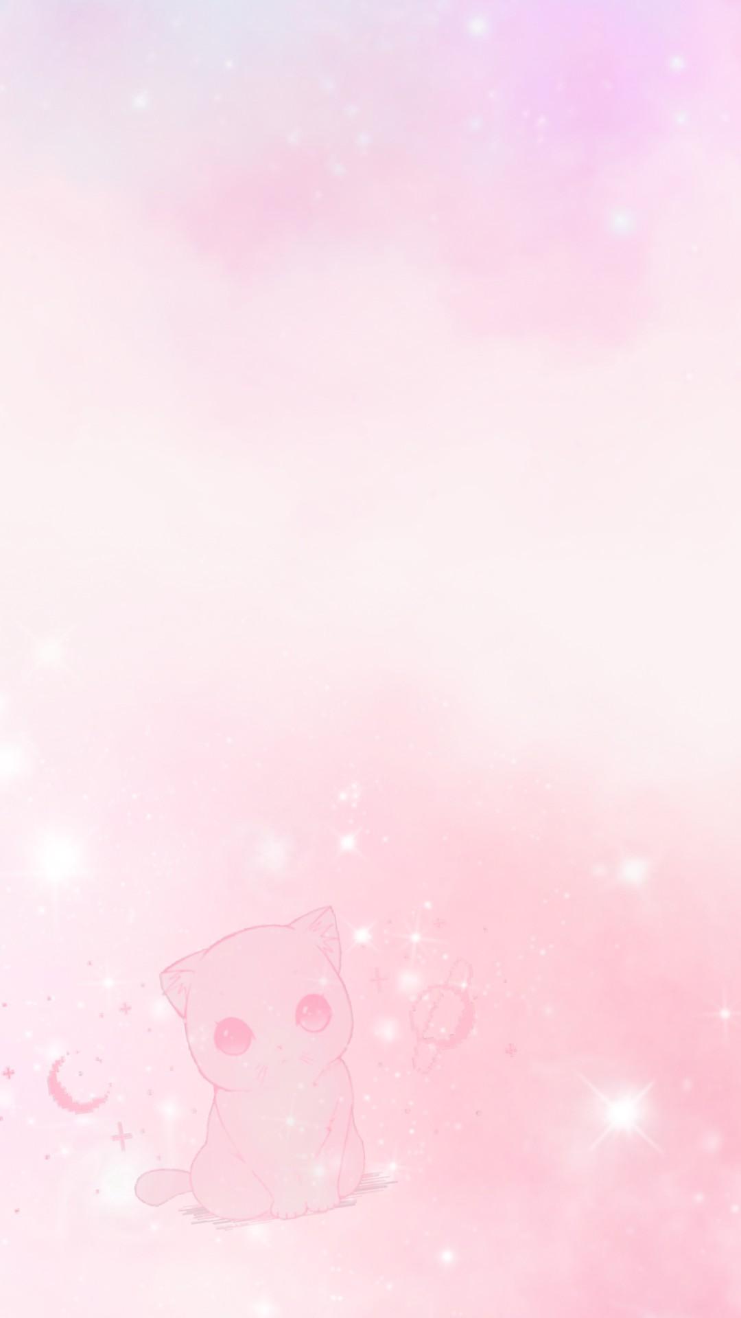 Cartoon Pink Cat Wallpaper Hd