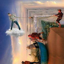 fishermen foldinglandscape freetoedit