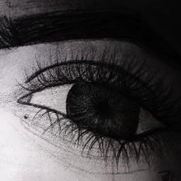 deapoco progreso eyes ojo blackandwhite