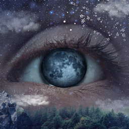 freetoedit night moon eye