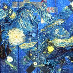 freetoedit vangoghstickerremix shapemask blue
