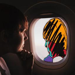 freetoedit throughtheglassremix pictureofthedayremix airplanewindowremix