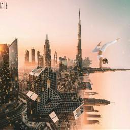 foldinglandscape city myedit freetoedit