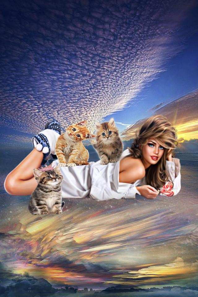 #catlady#mixedmediaart #newmediaart