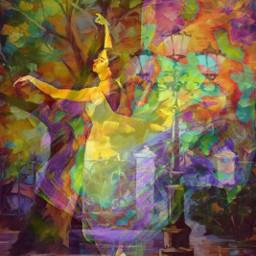 dance ballerina tree plazadearmas happiness