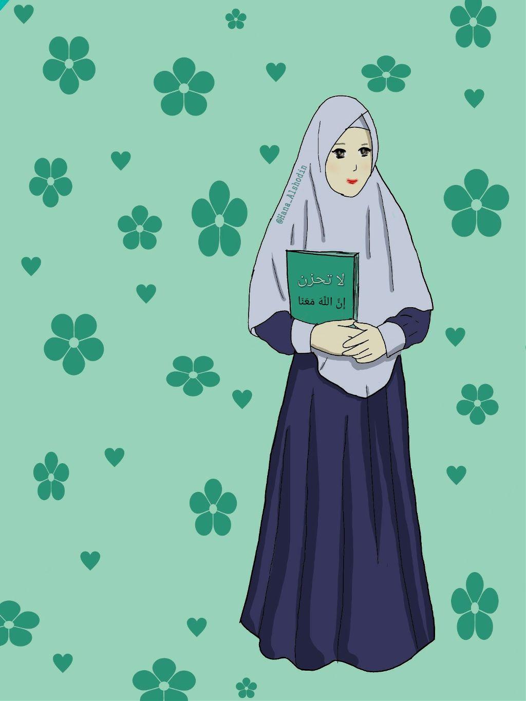 Muslimah Kartunmuslimah Kartun Gambar Foto