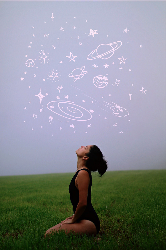 #surreal #space #people #woman