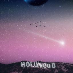 freetoedit hollywood shootingstar moon