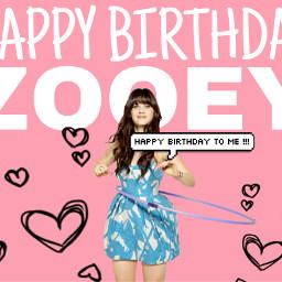freetoedit zooeydeschanel happybirthday happybirthdayzooey