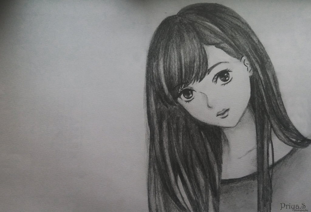 35 Latest Cute Anime Girl Pencil Sketch