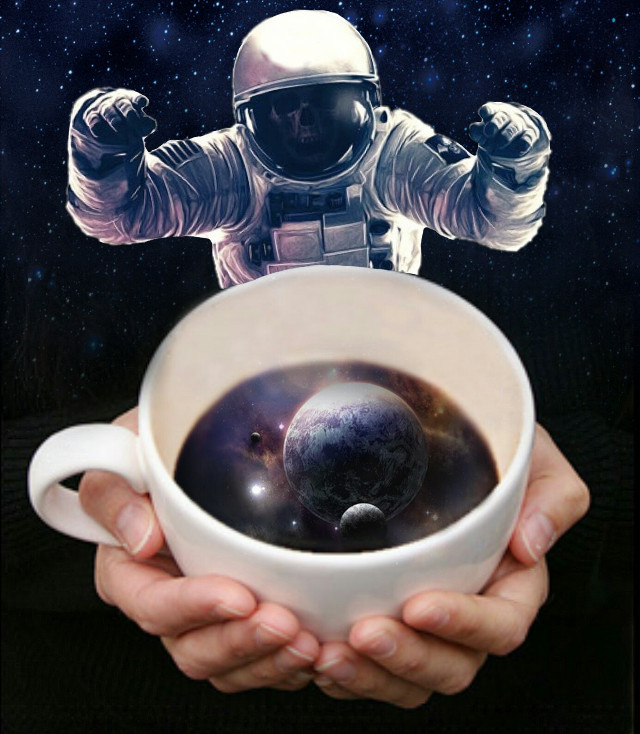 Space edit. Hope you people like it!!!   #stickers #space #cup
