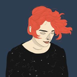 digitalart sky redhead adobeillustrator
