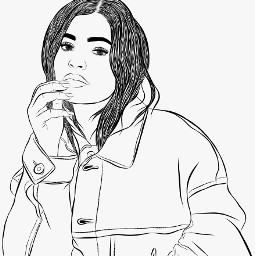 kylie jenner girl sketch digitalart freetoedit