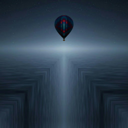 freetoedit balloon dream night madewithpicsart
