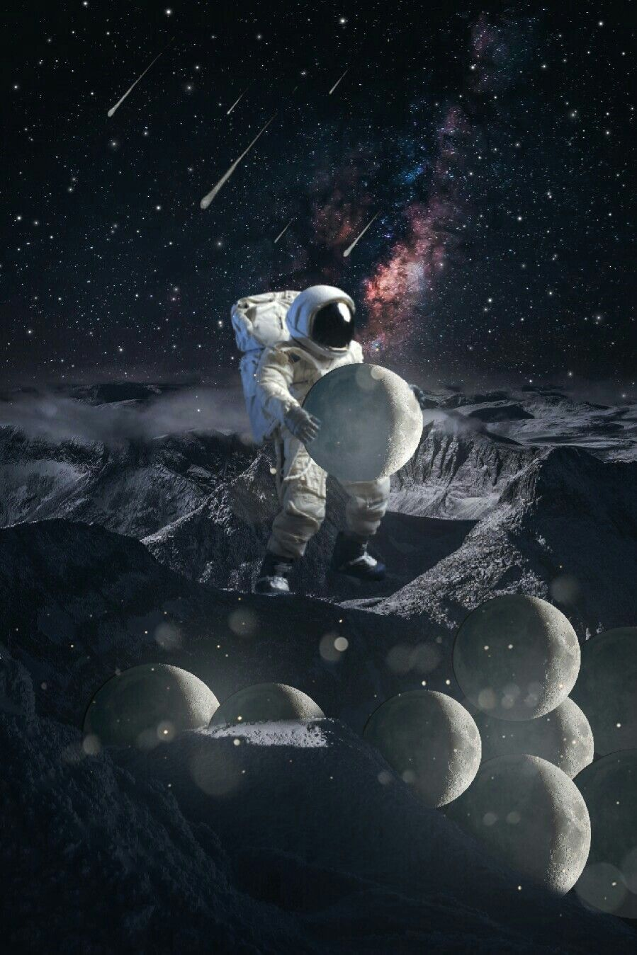 #freetoedit  #astronaut #collecting moons #vipbrushtool