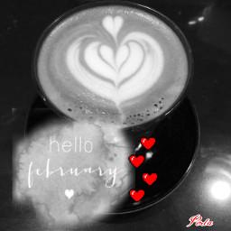 coffee goodmorning hellofebruary love heart freetoedit