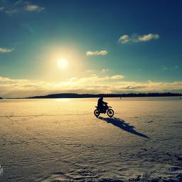 freetoedit winter frozenlake ktm motorcycle pcgoldenhour pchappiness pcnegativespace pcshadows pcmylife pcsnow pccentered pcwintersport pcwhite white
