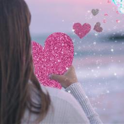 freetoedit glitterheartstickerremix heartstickers