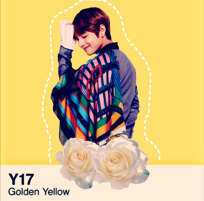 #bts #yellow #taehyung #v #wallpaper #bangtanboys #flower #cute #white #tae