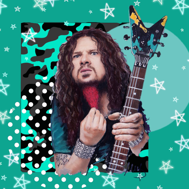 #freetoedit I'm going to be doing a series of edits like this of my personal favorite musicians. Hope you like.  #pantera  #damageplan #metal #rock #guitarist #legend #dimebagdarrell #dimebag #shapes #color #rockstar #star #picsart #nofeature