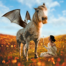 freetoedit horse hybridanimals hybrid girl