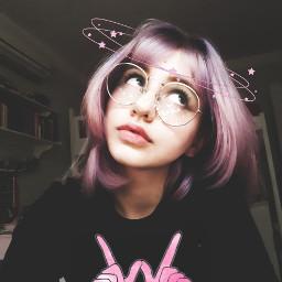 freetoedit girl galaxyhair galaxy colorfullhair