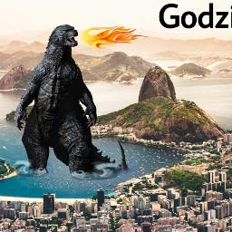 freetoedit godzilla lizard japan remixit