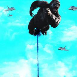 freetoedit kingkong empirestatebuilding scene monkey