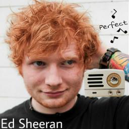 freetoedit edsheeran perfect radio red