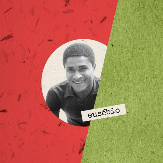 Football Legends :: vol. 1 :: [Eusébio]  #collage #cutandpaste #composition #digitalart #edit #graphic #paperwork #geometry #colours #legends #football #fútbol #futebol #calcio #portugal