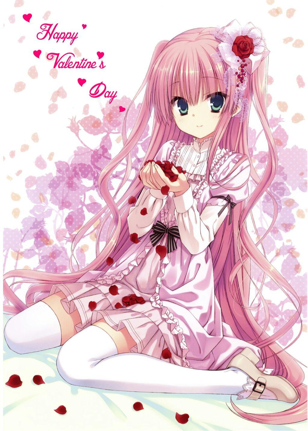 Freetoedit Anime Girl Kawaii Cute Pink Emotions Happyv