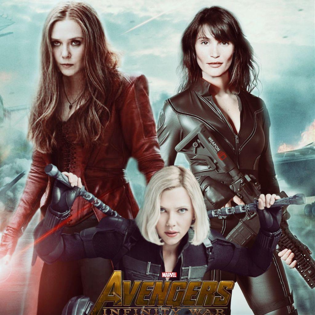 Scarlet Witch Agente 13 Y Black Widow En Vengadores