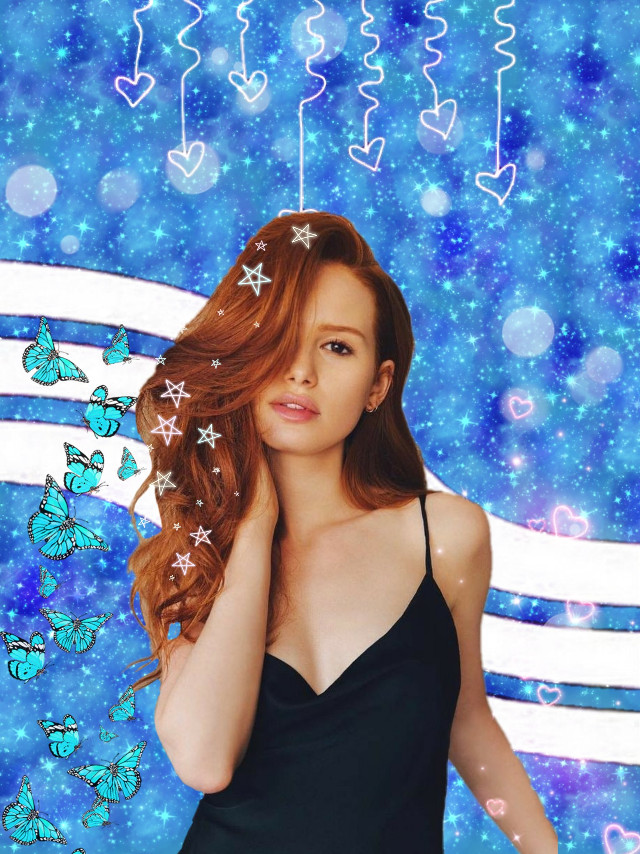 #freetoedit #madelainepetsch #butterflybrush #background #blue #galaxybrush #heartbrush