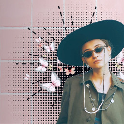 freetoedit dailyremix woman portrait hat ftestickers