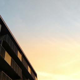 sunset sunny mininal minimalism sky