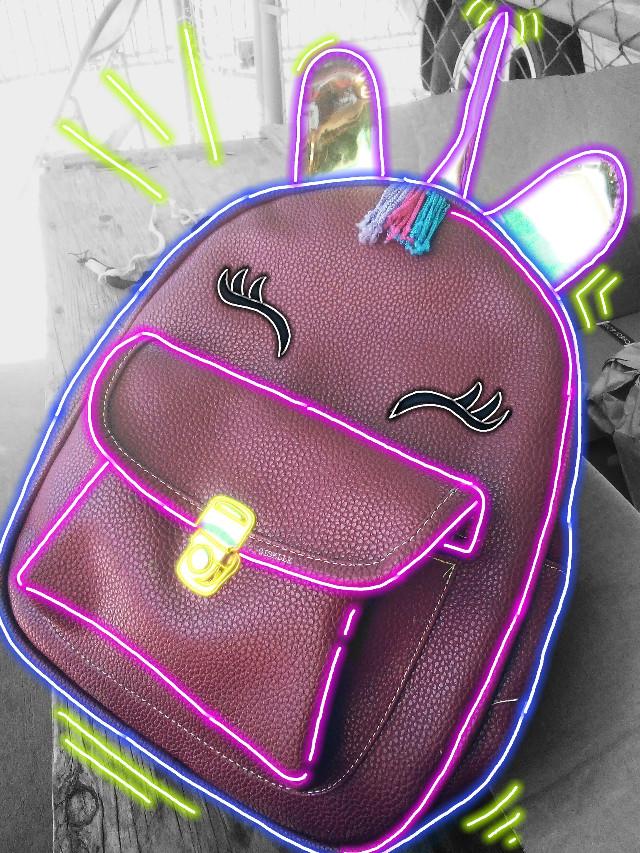 #neon #freetoedit #unicorn #unicornio #backpack #mochila ❤️