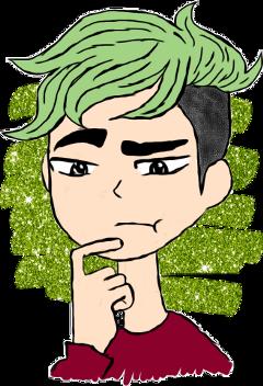 jacksepticeye green glitter cute freetoedit