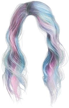 blue pink hair freetoedit