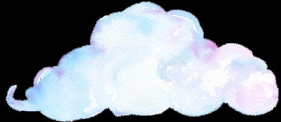 cloud watercolor ftestickers freetoedit