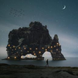 vipshoutout night madewithpicsart stars lights freetoedit