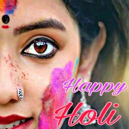 happyholi holi india fastival girl echappyholi