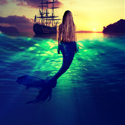 mermaid sea sun magic mystery freetoedit ircmysticalmermaid