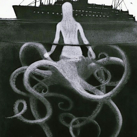 #drawing,#mermaid,#octopus,#ship,#hybrid,#freetoedit,#ircmysticalmermaid