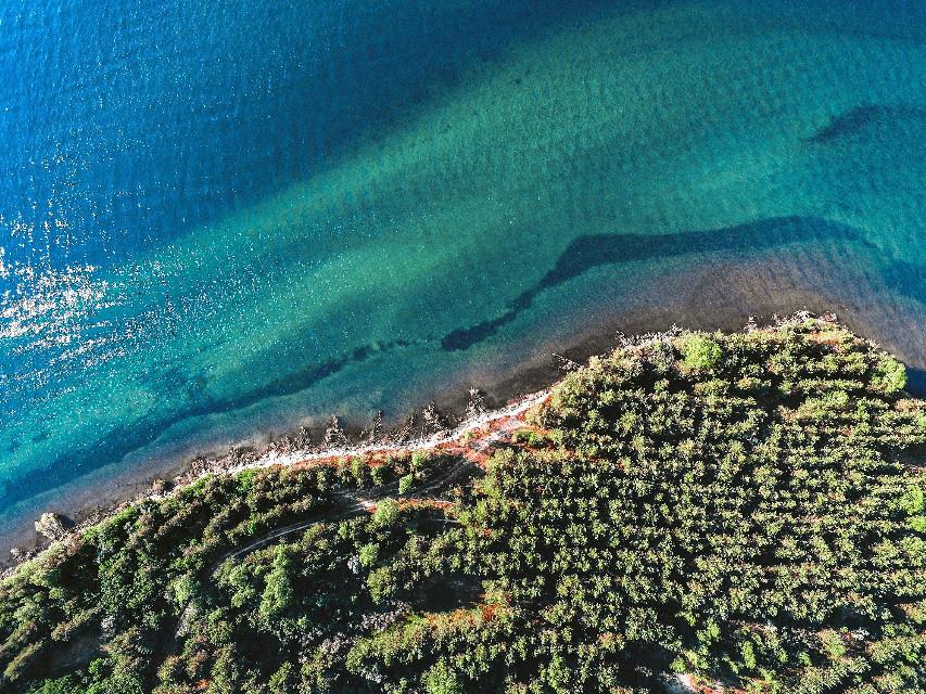 #freetoedit #lake #drone #blue