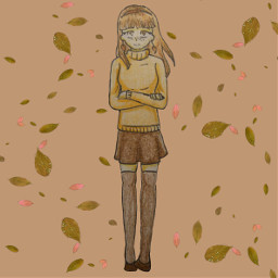 mydrawing personification fall leafes orange freetoedit