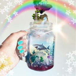 sharkinajar starbrushes unicornupthere wildlife rainbowsssssssssssss freetoedit