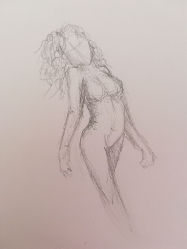 #freetoedit #girl #draw #gray #sexy #curly #sexy #body #drawing #drawbyme
