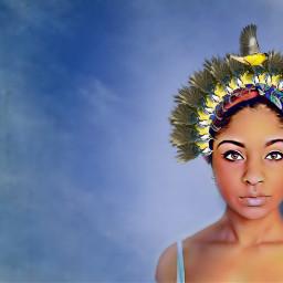 woman newhat beauty madewithpicsart freetoedit ircstylishlady